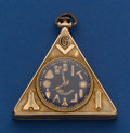 Timepieces:Pocket (post 1900), Hiram 14k Gold Triangular Pocket Watch With A Waltham Movement. ...