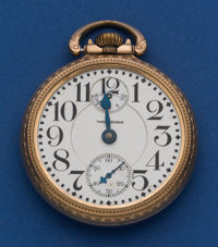 Waltham 23 Jewel Vanguard Pocket Watch With Wind Indicator For Restoration
