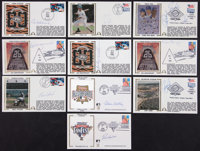 Baseball Notables Signed First Day Covers Lot of 10