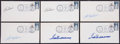 Baseball Collectibles:Others, Boston Red Sox Hall of Famers Signed First Day Covers Lot of 6 -With Two Ted Williams Examples!...