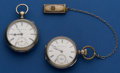 Timepieces:Pocket (pre 1900) , Two Elgin's 18 Size Key Winds Pocket Watches Runners. ... (Total: 2Items)