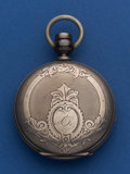Timepieces:Pocket (pre 1900) , Waltham 4 Oz Coin Silver 18 Size Hunter's Case Pocket Watch. ...