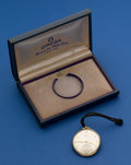Timepieces:Pocket (post 1900), Omega 14k Gold 12 Size Pocket Watch With Original Box. ...