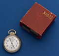 Timepieces:Pocket (post 1900), Elgin 21 Jewel B.W. Raymond With Wind Indicator For Repair WithBox. ...