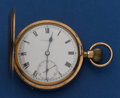 Timepieces:Pocket (post 1900), Thomas Russell 9k Gold 16 Size Hunter's Case Pocket Watch. ...
