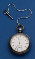 Timepieces:Pocket (post 1900), Lancaster 11 Jewel Coin Silver West End Key Wind Pocket Watch. ...