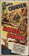 "Movie Posters:Adventure, Daniel Boone (Motion Picture Ventures, R-1940s). Three Sheet (41"" X81""). Adventure.. ..."