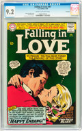 Silver Age (1956-1969):Romance, Falling in Love #81 Savannah pedigree (DC, 1966) CGC NM- 9.2 Creamto off-white pages....