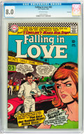 Silver Age (1956-1969):Romance, Falling in Love #82 Savannah pedigree (DC, 1966) CGC VF 8.0Off-white pages....