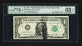 Error Notes:Ink Smears, Fr. 1908-B $1 1974 Federal Reserve Note. PMG Gem Uncirculated 65EPQ.. Fr. 2020-C $10 1969B Federal Reserve Note. PCGS Gem New...(Total: 2 notes)