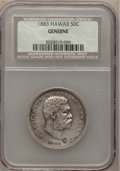 Coins of Hawaii, 1883 50C Hawaii Half Dollar -- Genuine -- NCS. Mintage: 700,000.(#10991)...