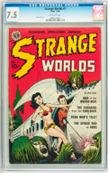 Golden Age (1938-1955):Science Fiction, Strange Worlds #1 (Avon, 1950) CGC VF- 7.5 Off-white pages....