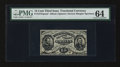 Fractional Currency:Third Issue, Fr. 1275SP 15¢ Third Issue Narrow Margin Face PMG Choice Uncirculated 64.. ...