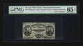 Fractional Currency:Third Issue, Fr. 1272SP 15¢ Third Issue Narrow Margin Face PMG Gem Uncirculated 65 EPQ.. ...