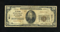 National Bank Notes:Oklahoma, Newkirk, OK - $20 1929 Ty. 1 The Eastman NB Ch. # 9011. Five $20 Type 1 are listed in the census from here, including th...