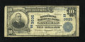 National Bank Notes:Pennsylvania, Manheim, PA - $10 1902 Plain Back Fr. 626 The Keystone NB Ch. #(E)3635. This Fine note is just the third $10 Plain ...