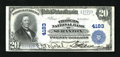 National Bank Notes:Pennsylvania, Scranton, PA - $20 1902 Plain Back Fr. 653 The Traders NB Ch. #4183. An About Uncirculated note with just a few too...
