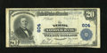National Bank Notes:Pennsylvania, York, PA - $20 1902 Plain Back Fr. 650 The York NB Ch. # 604. AFine-Very Fine note that came to us in a holder indi...
