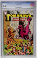 Silver Age (1956-1969):Western, Tomahawk #82 (DC, 1962) CGC NM- 9.2 Cream to off-white pages....