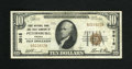 National Bank Notes:Virginia, Petersburg, VA - $10 1929 Ty. 1 First NB & TC Ch. # 3515. Acouple of pinholes are noticed on this bright Fine-Very Fi...