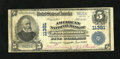 National Bank Notes:Virginia, Portsmouth, VA - $5 1902 Plain Back Fr. 606 American NB Ch. #11381. A Fine Plain Back with purple stamped signature...