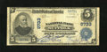 National Bank Notes:Virginia, Suffolk, VA - $5 1902 Plain Back Fr. 601 NB of Suffolk Ch. # 9733.A problem free Fine with blue stamped officers' s...