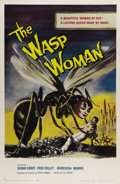 "Movie Posters:Science Fiction, The Wasp Woman (Film Group, Inc., 1959). One Sheet (27"" X 41"").Roger Corman directed this science fiction/horror film about..."