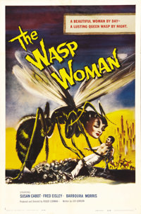 "The Wasp Woman (Film Group, Inc., 1959). One Sheet (27"" X 41""). Susan Cabot stars as a cosmetics company owner..."