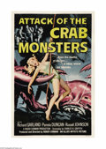 "Movie Posters:Science Fiction, Attack of the Crab Monsters (Allied Artists, 1957). One Sheet (27""X 41""). A group of scientists, stranded on a desert islan..."