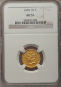 Classic Quarter Eagles, 1838 $2 1/2 AU55 NGC. Breen-6146, Variety-19, R.2....