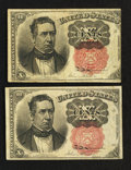 Fractional Currency:Fifth Issue, Fr. 1265 10¢ Fifth Issue Very Fine. Fr. 1266 10¢ Fifth Issue VeryFine.. ... (Total: 2 notes)