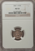 Seated Half Dimes: , 1847 H10C AU53 NGC. NGC Census: (1/148). PCGS Population (7/143).Mintage: 1,274,000. Numismedia Wsl. Price for problem fre...