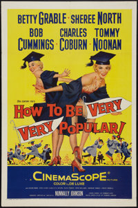 """How to Be Very, Very Popular (20th Century Fox, 1955). One Sheet (27"""" X 41""""). Comedy"""