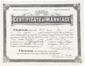 Movie/TV Memorabilia:Memorabilia, A Marriage Certificate, 1933....