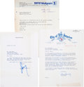 Movie/TV Memorabilia:Memorabilia, Two California Politician Signed Letters, 1970s....