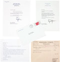 Movie/TV Memorabilia:Memorabilia, Two Lyndon B. Johnson Signed Letters, 1960s....