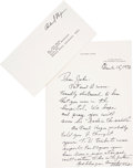 Movie/TV Memorabilia:Memorabilia, A Richard Nixon Handwritten Letter, 1976...