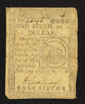 Continental Currency February 17, 1776 $1/6 Very Good-Fine