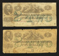 Confederate Notes:1862 Issues, T43 $2 1862. Two Examples.. ... (Total: 2 notes)