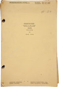 "Movie/TV Memorabilia:Memorabilia, A Script from ""Sands of Iwo Jima.""..."