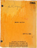 "Movie/TV Memorabilia:Memorabilia, A Working Script from ""Trouble Along the Way.""..."