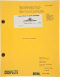 "Movie/TV Memorabilia:Memorabilia, A Script from ""The Wings of the Eagles.""..."