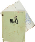 "Movie/TV Memorabilia:Memorabilia, An Annotated Working Script from ""McQ.""..."