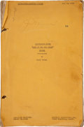 "Movie/TV Memorabilia:Memorabilia, An Annotated Working Script from ""Wake of the Red Witch.""..."