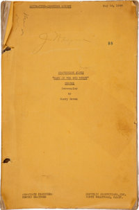 """An Annotated Working Script from """"Wake of the Red Witch."""""""