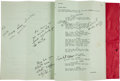 "Movie/TV Memorabilia:Memorabilia, An Annotated Working Script from ""Hellfighters.""..."