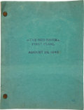 "Movie/TV Memorabilia:Memorabilia, A Script from ""Red River.""..."