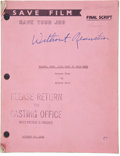 "Movie/TV Memorabilia:Memorabilia, A Script from ""Without Reservations.""..."