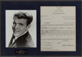 Music Memorabilia:Autographs and Signed Items, Del Shannon and Dick Clark Signed Contract....