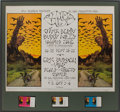 Music Memorabilia:Posters, Chuck Berry/Buddy Miles/Eric Burden and War Fillmore West ConcertPoster and Ticket Group BG-250 (Bill Graham, 1970)....